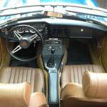 Interior of car with Moss leather kit and ochre de