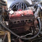 Manifolds stripped from the engine she really nee