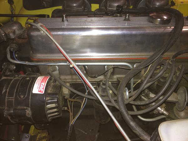 Fuel lines in engine bay : TR6 Tech Forum : Triumph Experience Car