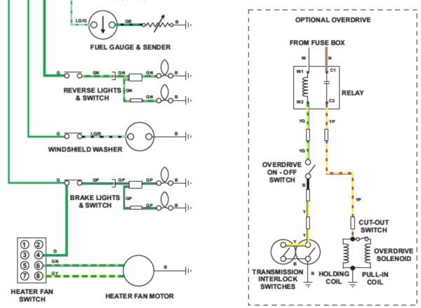 overdrive relay corvette wiring harness product diagrams