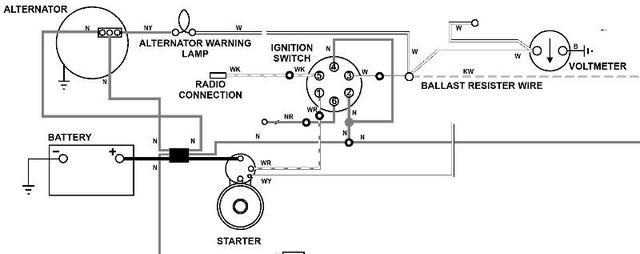73 tr6 good alternator but not getting reading on voltmeter and rh triumphexp com Sunpro Voltmeter Wiring-Diagram Sunpro Voltmeter Wiring-Diagram