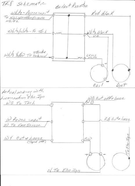 Incorrect wiring on Ballast Resister? : TR7 & TR8 Forum ...