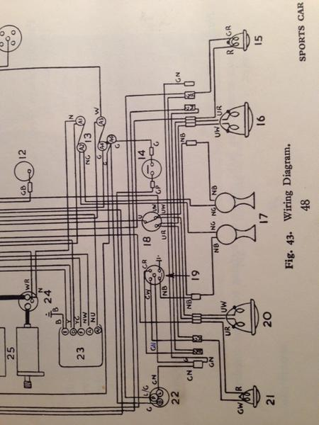 Diagram Installing New Bw Wiring Harness Tr2 U0026 Tr3 Forum