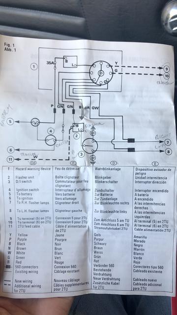 cooper switch wiring diagram lucas aftermarket hazard switch install troubleshoot spitfire  lucas aftermarket hazard switch install