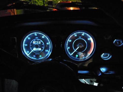 Led Dash Lights on Triumph Spitfire Dash