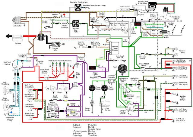 78_diagram_w_Lucas_Electronic_Ignition_and_6v_Coil_mine_ where to find lumenition optronics power module spitfire & gt6 lumenition ignition wiring diagram at gsmx.co