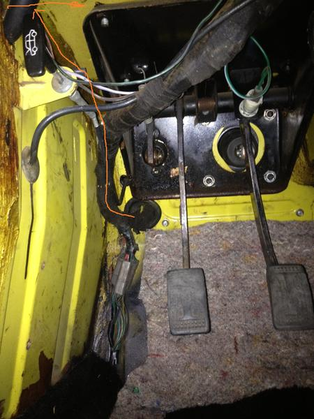 wiring harness footwell need pictures tr6 tech forum co wiring harness