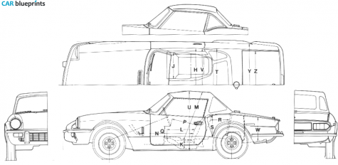 3 view drawing : Spitfire & GT6 Forum : Triumph Experience