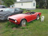 jacqueline smith 1971 Triumph TR6 red