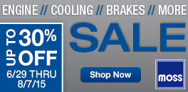 Engine, Cooling, Brake and More Sale at Moss Motors