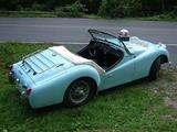 1959 Triumph TR3A Powder Blue frank herrera