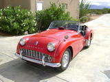 1960 Triumph TR3A RED mike O donnell