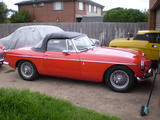 1972 MG MGB Red Les Mervin