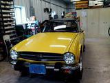 1975 Triumph TR6 Yellow George Kashou