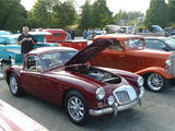 1960 MG MGA 1600 Coupe Burgundy Red Sarah W